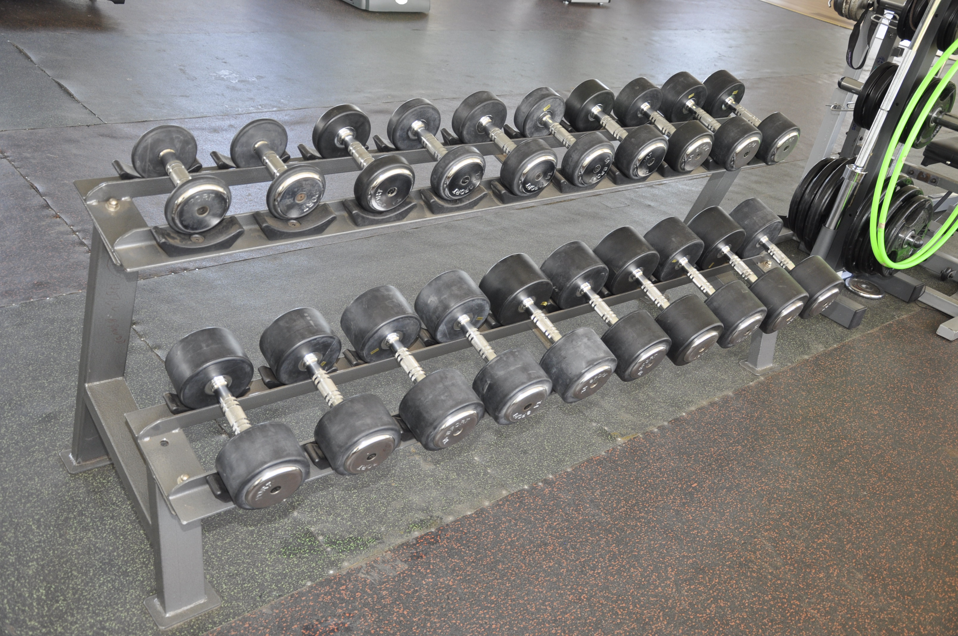 RACK OF OUR DUMB BELLS